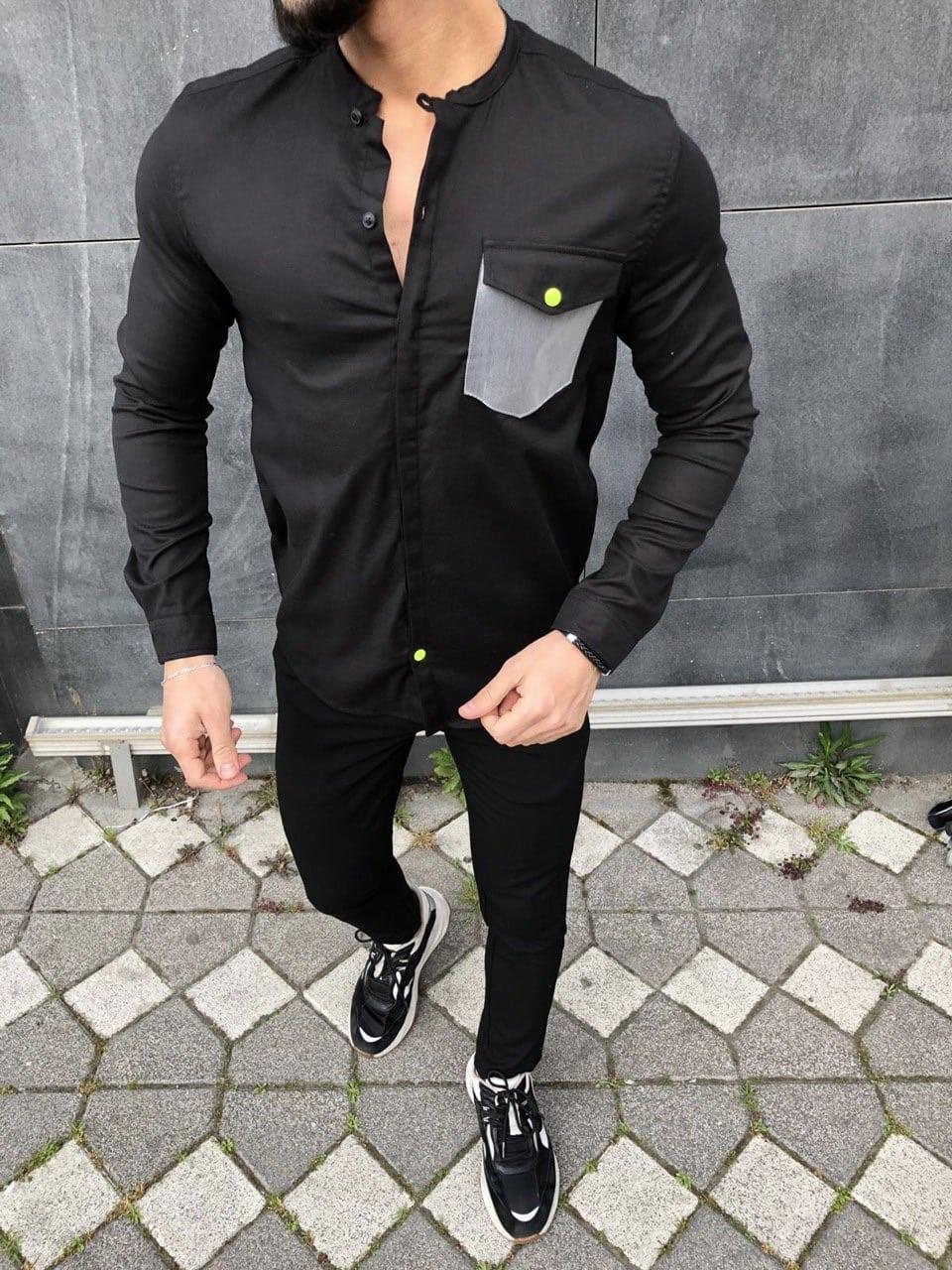 Camasa Barbati Neagra Fierce 991509