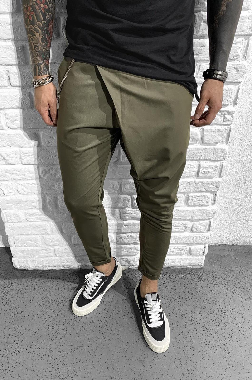 Pantaloni Barbati Kaki Harrods 901998