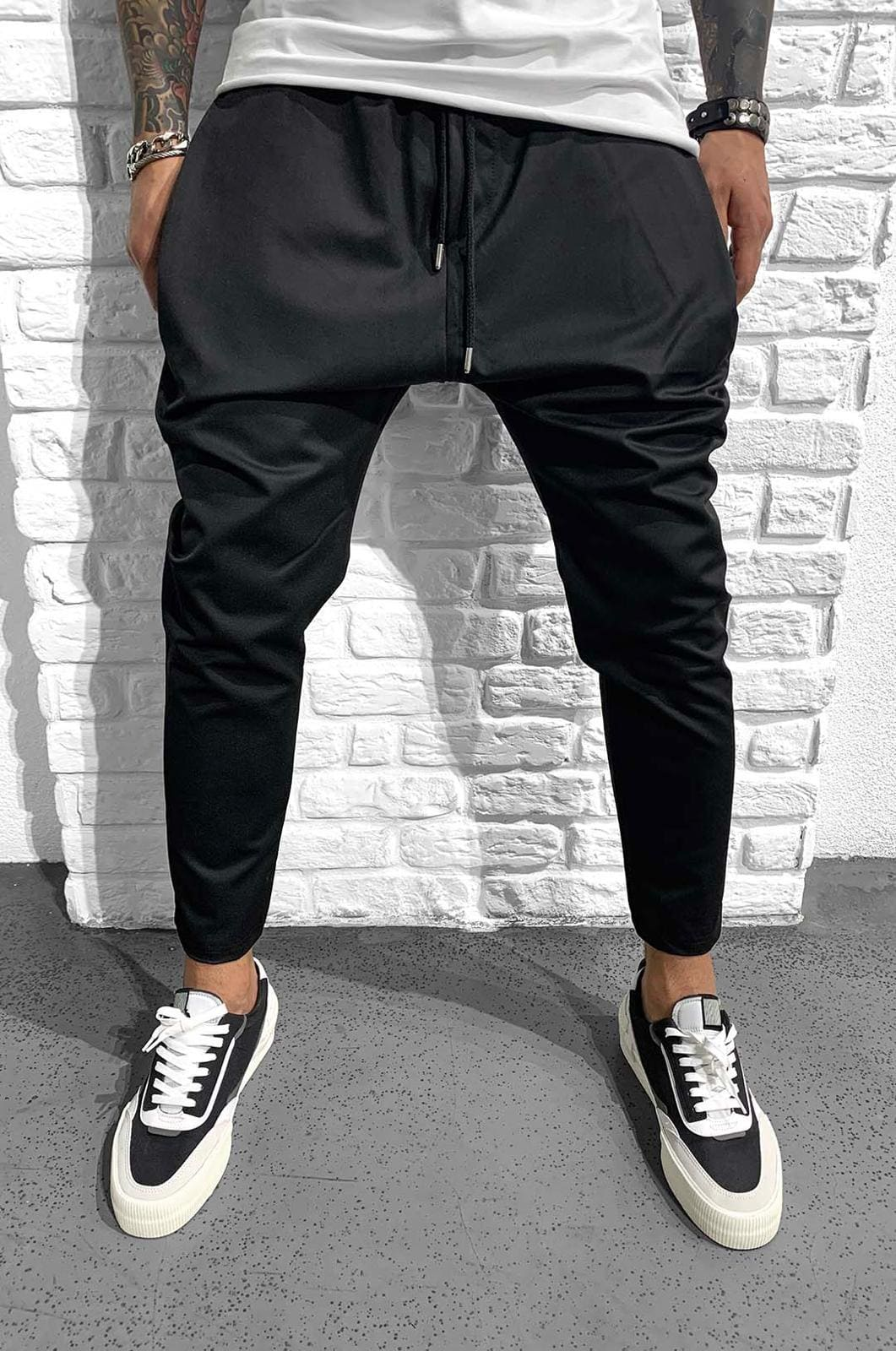 Pantaloni Barbati Negri Stylish 881088