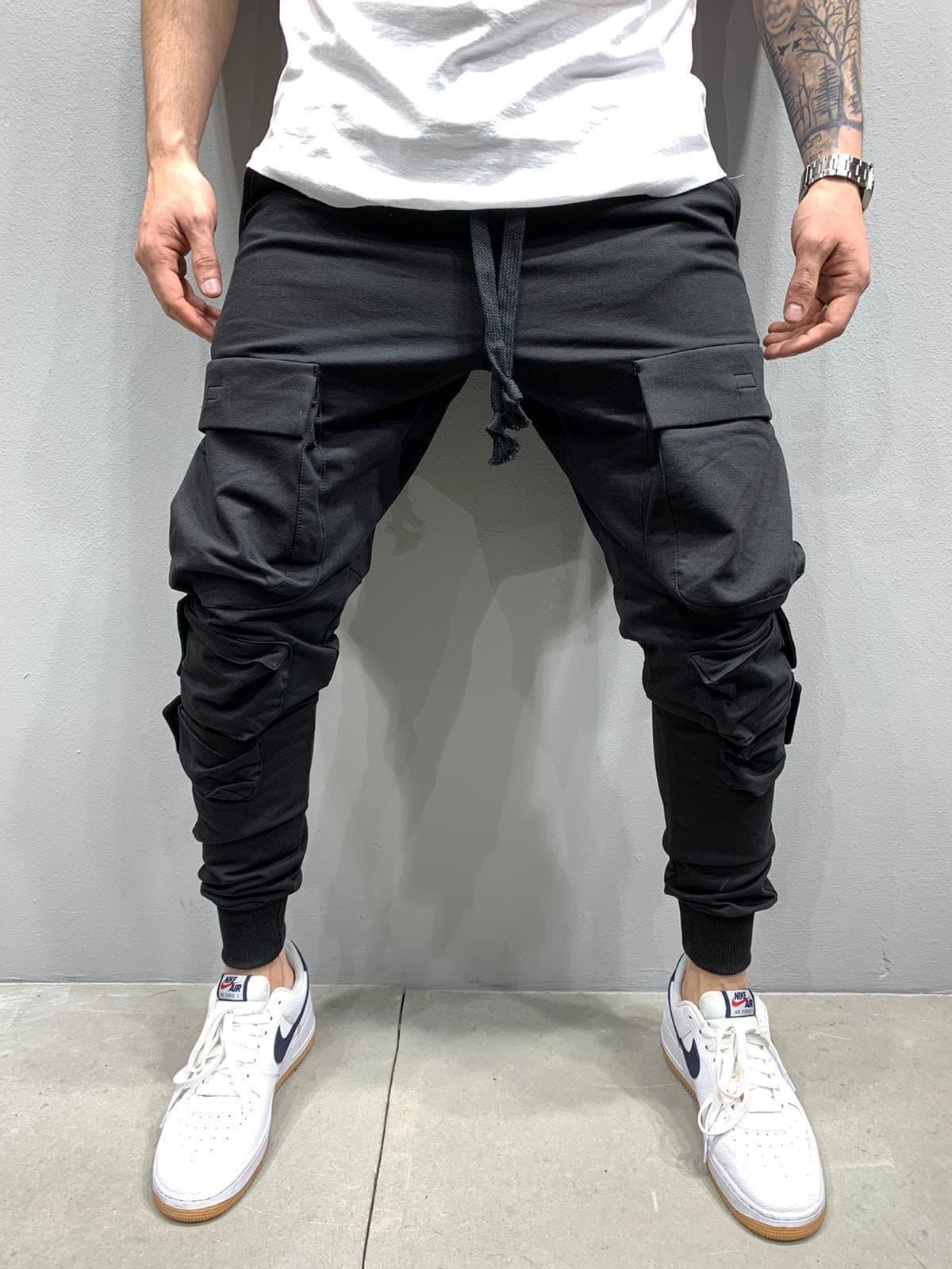 Pantaloni Barbati Negri Null 995165