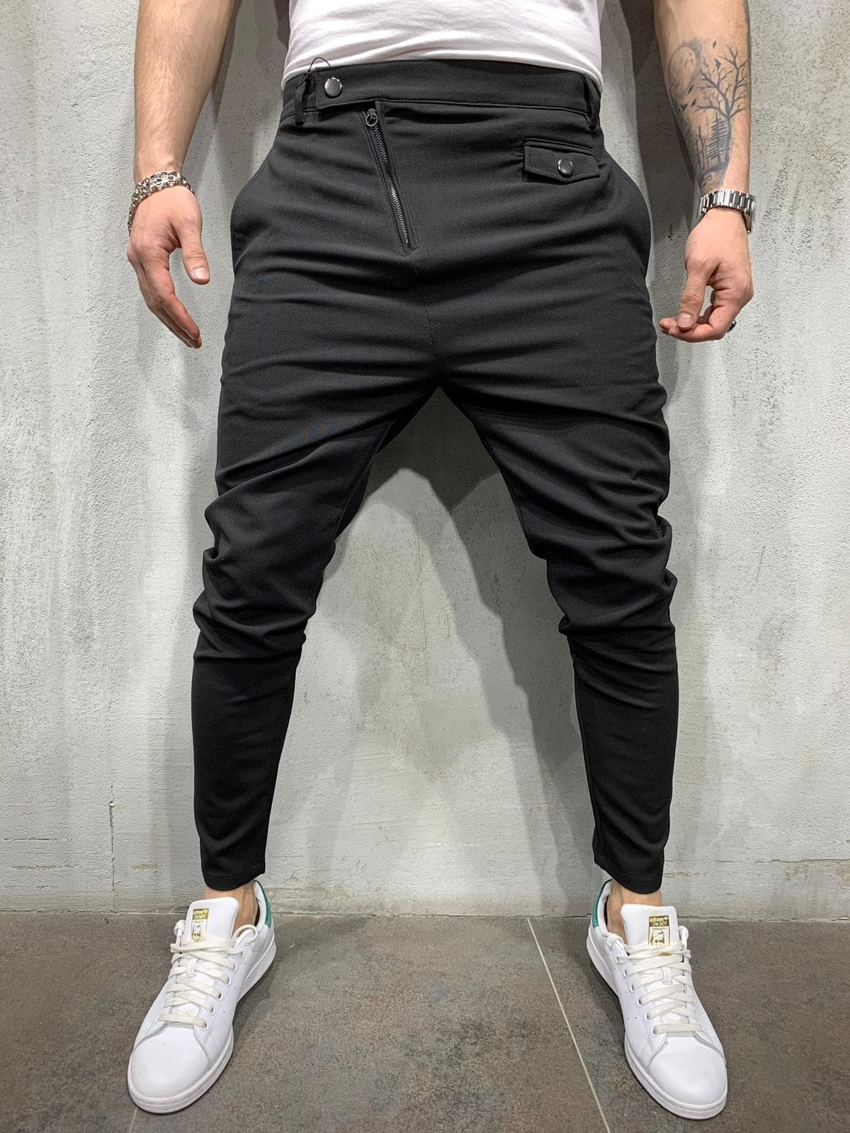 Pantaloni Barbati Negri Tame 981018
